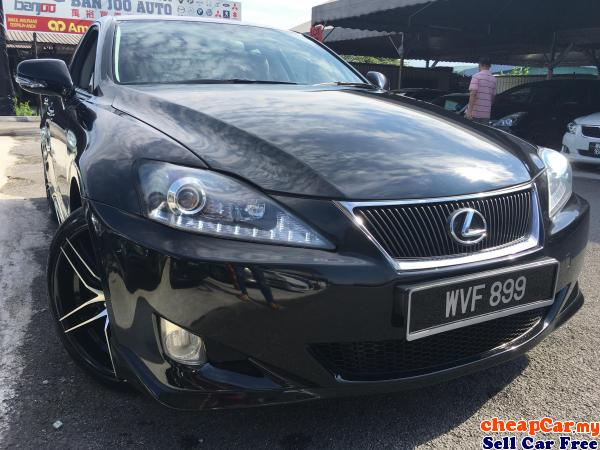 LEXUS IS 250 2 5 V6 ENGINE,KEYLESS PUSH START,DVD PLAYER,NAVIGATION  GPS,FULL LEATHER SEAT,ONE CAREFU Cheras
