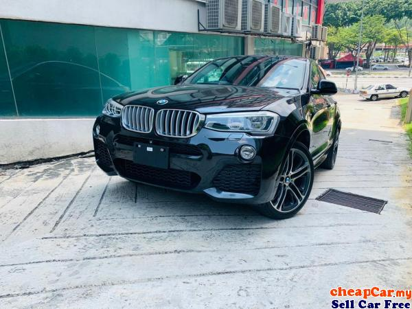 HAVE 2 UNIT!!! UNREGISTER BMW X4 2.0 xDrive28i M Sport SUV , BLACK COLOUR INTERIOR , PRICE CAN NEGO! Cheras Kuala Lumpur | CheapCar.my