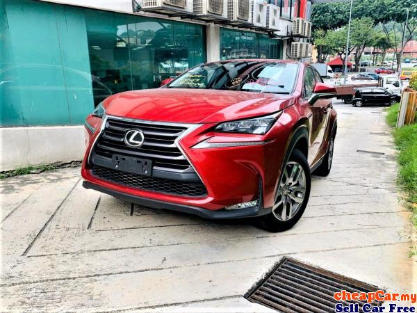 MARK LEVINSON SOUND , REAR WITH ELEC SEAT , POWET BOOT , LED HEADLAMP ,Lexus NX200t 2.0 Luxury,HAVE  Cheras Kuala Lumpur | CheapCar.my