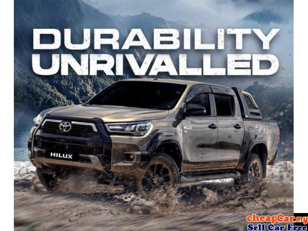 2021 Toyota Hilux D/Cab 2.4V-Price Frm RM106,300 NEW Puchong Selangor   CheapCar.my